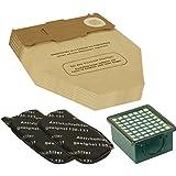 Kenekos Filter Set 3 tlg I 2 Kohlefilter + 1 HEPA Filter + 10 Staubbeutel geeignet für Vorwerk Kobold 130 131 SC