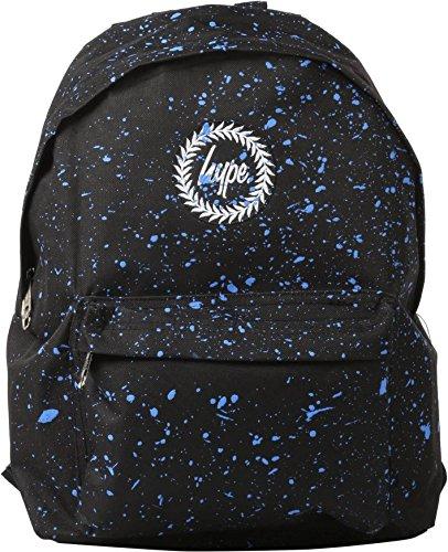 Hype Rucksack Taschen Rucksäcke–Schulranzen–viele neue Farben & Designs–wählen Sie Ihre Favoriten aus 40Styles, Speckled Black/Navy Blue (Schwarz) - Hype bag (Splatter Embroid) Speckled Black/Navy Blue