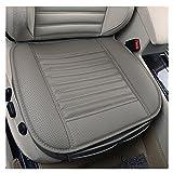 1 PCS PU Leder Bambus Holzkohle Breathable Komfortable Autozubehör Sitzbezüg Vier Jahreszeiten General Autozubehör Einzelsitzbezüge (Grau)
