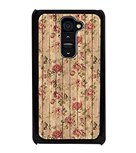 HiFi High Glossy Designer Phone Back Case Cover LG G2 :: LG G2 Dual D800 D802 D801 D802TA D803 VS980 LS980 ( Wood Pink Flower Design Look Oil Paint Look Wood Finish )