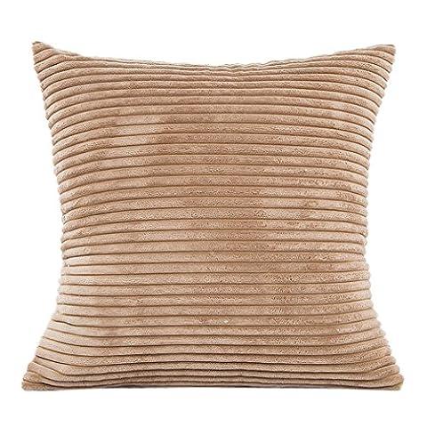 Vovotrade Textured Plüsch Kissen Sofa Taille Wurf Kissenbezug Home Decor Kissen Cover Case (Khaki)