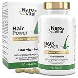 Haar-Vitamine - Für Haare, Haut und Nägel - 120 vegane Kapseln (2 Monate) - Mit 5.000 mcg Biotin, Zink, Selen, Hirse-Extrakt, OPC & Mehr - gesunder Haarwuchs & Bartwuchs