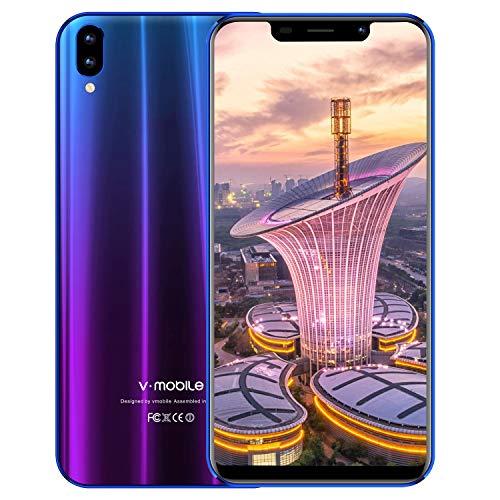 moviles libres baratos v mobile XS Pro, 3GB RAM - 32GB ROM ,3800mAh - 13.0MP Cámara , 5.84' HD+ 19:9 pantalla smartphone Dual sim 3G+, ofertas del dia móviles y smartphones libres (Aurora morada