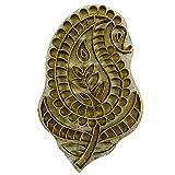Paisley Design Messing-geschnitzte hölzerne Textil Stempel Metall Prägestempel-Block