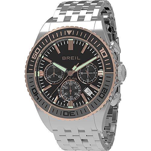 Cronografo uomo acciaio manta 1970 nero breil