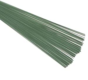 """FLORIST, FLORAL GREEN STUB WIRE (0.7mm) 22swg x 7.00"""" 60 grms approximatly 110+ pieces. Ideal for the crafts Person"""