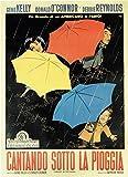 Black Creations Singin' in The Rain -Italian 1952 Affiche de Film Movie Poster Photo...