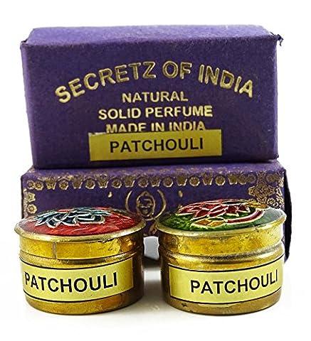 Patchouli naturel parfum solide Parfum corps musc naturel Mini Brass