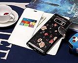 Galaxy Note 8 Hülle Leder, Samsung Galaxy Note 8 Hülle Ledertasche TOCASO Wallet Case Samsung Galaxy Note 8 Hülle Leder Schwarz Samsung Galaxy Note 8 Leder Slim Tasche Schutzhülle Samsung Galaxy Note 8 Lederhülle Brieftasche Case mit 3 Kartenfach Samsung Galaxy Note 8 Handyhülle Dünn 2 IN 1 Abnehmbar Backshell + Flip Cover Case for Samsung Galaxy Note 8 mit Kartenschlitz Magnetverschluss+ *1 Schwarz Stylus --Kleine Blumen