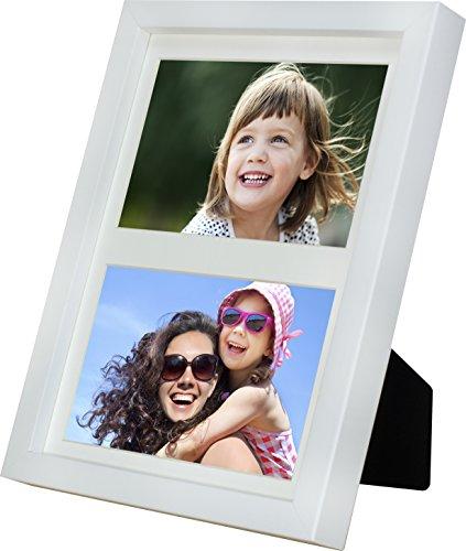 BD ART 17x 23cm múltiples Marco, Fotos, galería de Fotos con paspartú y 2Foto de recortados para Fotos de 10x 15cm, Color Blanco