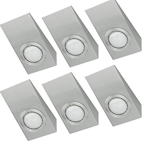 6er-set-luxus-kuchen-unter-bau-schrank-beleuchtung-glas-spots-silber-sockel-g4
