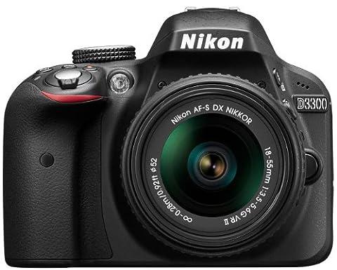 Nikon D3300 Digital SLR Camera with 18-55mm VR II Lens Kit (24.2 MP, 3 inch LCD) - Black