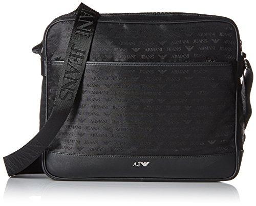 Armani Jeans Messanger Topzip - Borse per PC portatili Uomo, Schwarz (Nero), 29x10x35 cm (B x H T)