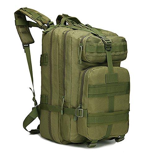 Military Tactical Rucksack Große Armee 3Day Assault Pack Molle Bug Out Bag Rucksäcke Rucksäcke für Outdoor Wandern Camping Trekking Jagd 40L mit 1Schnalle armee-grün