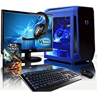 "VIBOX Precision 6.12 Gaming PC Computer with Game Voucher, 22"" HD Monitor (4.0GHz AMD FX Quad-Core Processor, Nvidia GeForce GT 710 Graphics Card, 8GB RAM, 120GB SSD, 3TB HDD, No Operating System)"