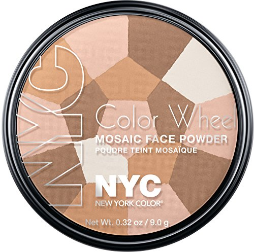 NYC, Cipria Color Wheel, effetto mosaico, Translucent Highlighter Glow