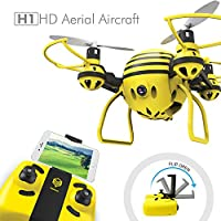 HASAKEE H1 FPV RC Drone with HD Live Video Wifi Camera and Headless Mode 2.4GHz 6-Axis Gyro Quadcopter with Altitude Hold and One-Button Take off/Landing,Good for Beginners from Mgrc