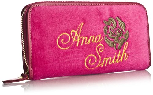 Big Handbag Shop Damen Börse Anna Smith New York Rose weiches Kunststoff (ASP01 PM) (New Coin York Shop)