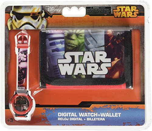 Star Wars - Marvel MV16073 Avengers Portafoglio Gift Set + orologio digitale. - Spider Man Gift Set