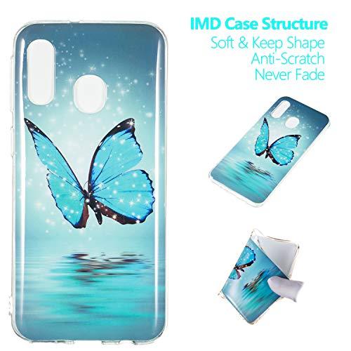 Leuchtende Silikon-haut - (kelman silikon hülle für Samsung Galaxy A40 Hülle Weiches TPU Mode Leuchtend Stoßfest Anti-Rutsch Rückseitige Haut Handyhülle - [#XS44])
