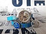 Wickelarmbanduhr Wickeluhr Armbanduhr Lederarmband Uhr Schmuck blau metallic silber maritim Statement Anker Glücksbringer Cabochon Anhänger Schiebeperle Geschenkidee