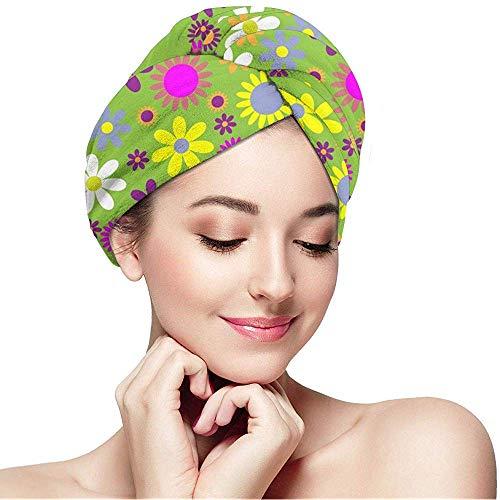 Archiba Blumenblumen-Muster-Bunte Kappe des trockenen Haares