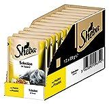 Sheba Katzenfutter Nassfutter Selection in Sauce mit Huhn, 12 Beutel (12 x 85 g)