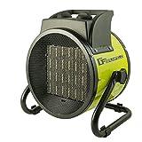 Keramik Heizlüfter 3000W elektrisches Heizgerät mit Ventilatorfunktion für die Garage, Baustelle oder Werkstatt 3kW