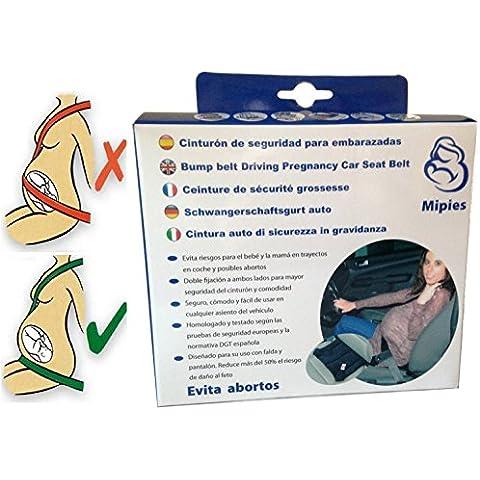Cinturón para embarazada de seguridad en el coche que protege al bebé y la mamá evitando el riesgo de aborto -