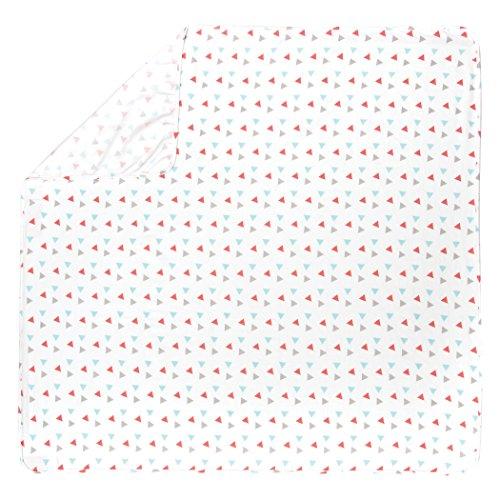 Trend Lab Coral Dreiecke Deluxe Flanell Wickeldecke