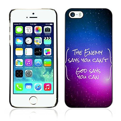 ouucase Coque rigide pour iPhone 5/5S-Dieu dit vous pouvez HD Housse PC Pour New Design