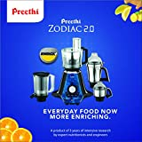 Preethi Zodiac 2.0 MG235 750-Watt Mixer Grinder with 4 Jars (Black)