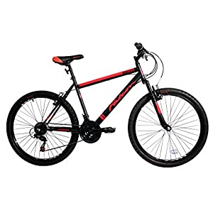 51sA5WTZvEL. SS300  - Falcon Men's Maverick Mountain Bike-Black/Red, 12 Years