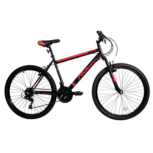 51sA5WTZvEL. SS500  - Falcon Men's Maverick Mountain Bike-Black/Red, 12 Years