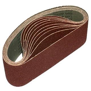 ALEKO 76 x 533 mm 240 Grit Aluminum Oxide Sanding Belt, 10-Pack