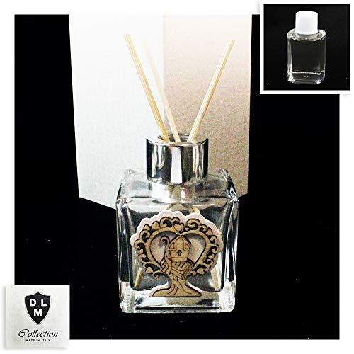 Dlm-30307 (kit 6 pezzi) profumatore in vetro argento albero della vita per santa cresima in legno bomboniera