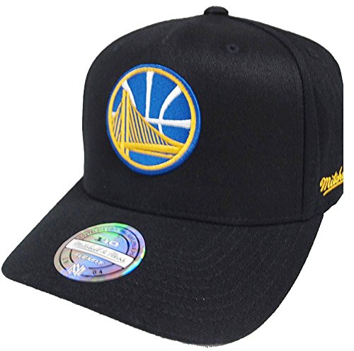 90b724a11ab05 Mitchell   Ness Golden State Warriors INTL132 110 Curved Eazy NBA Flexfit  Snapback Cap One Size