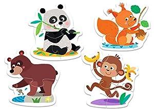 TREFL-Puzzle Baby de Animales del Bosque 2-3-4-5Piezas, 36056u