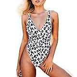 Yvelands Damenmode Bademode Leopard einteiliger Badeanzug Beachwear Bikini