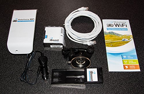 Price comparison product image Motorhome WiFi iBoost Directional System - Campsite / Caravan WiFi Booster / Antenna