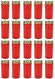 Grablicht Brenner Nr. 3 rot mit Deckel | Grabkerzen | Friedhofskerzen | Grablichtkerze | Trauerlicht | Gedenkkerze | Grabdekoration | Grabdeko (20er Pack)