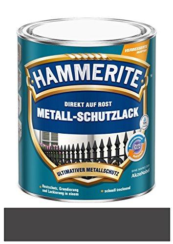 250 ml Hammerite Direkt auf Rost Metall-Schutzlack Dunkelgrau, Matt