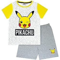 Vanilla Underground Pokemon Pikachu Face Boy's Short Pyjamas (9-10 Years)