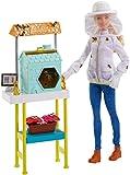Mattel Barbie FRM17 Imkerin Puppe (Blond) und Spielset