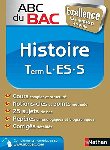 ABC BAC EXCELL HISTOIRE TERM L