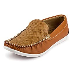 Rosso Italiano Mens Tan Boat Loafers Shoe (ril499tn802)6