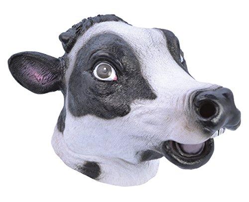 6Kuh Maske (One Size) (Herren Animal Fancy Dress Kostüme)