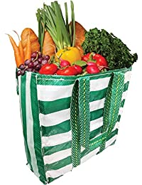 Shalimar Reusable Grocery Bags/Vegetable Bags/Fruit Bags/Shopping Bags/Multipurpose Bags (Size : Height 18 Inches...