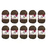 10er Pack myboshi Häkel- und Strickgarn 500g Farbe: (Kakao)