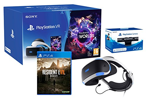 "PlayStation VR ""Resident Evil 7 Pack"" + VR Worlds + Cámera V2"
